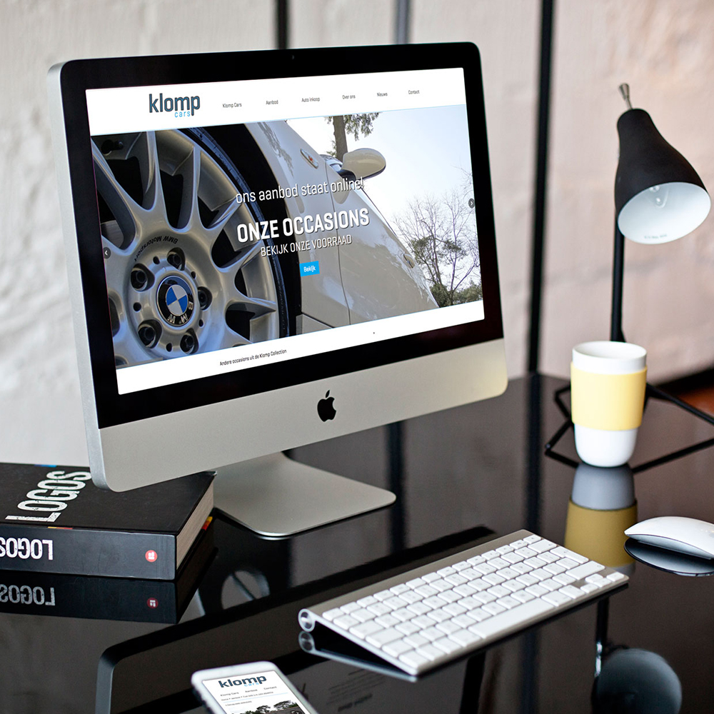 webdesign branding klomp cars